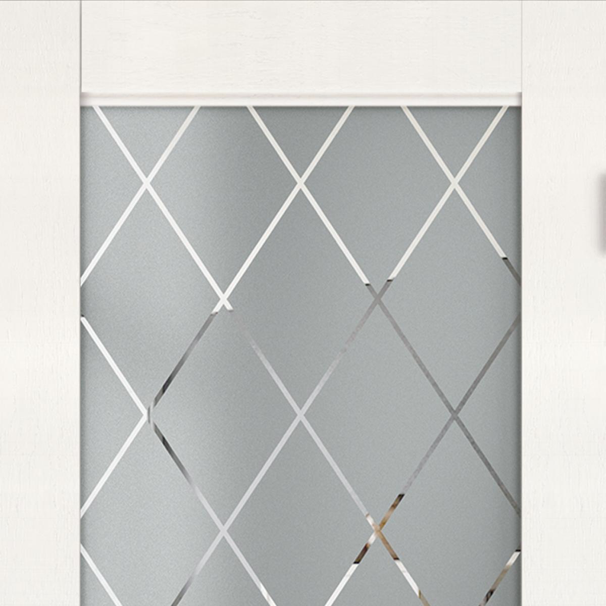 Дверь Межкомнатная Остеклённая «Летиция» 90x200 Пвх Цвет Лофт Светлый С Фурнитурой