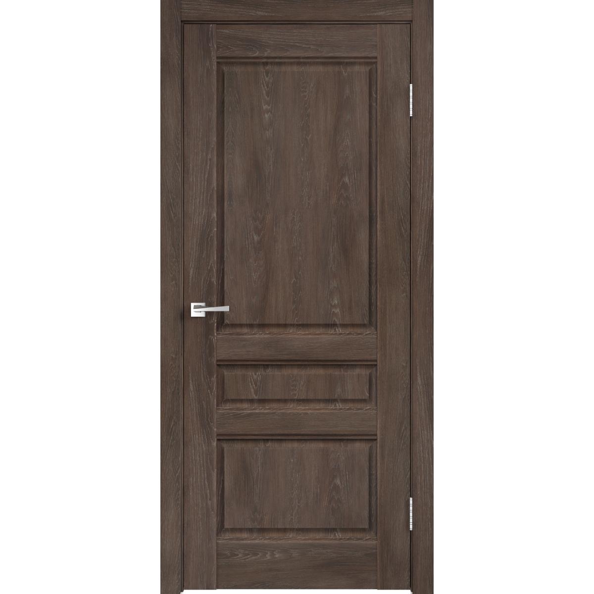 Дверь межкомнатная глухая «Летиция» 60x200 см ПВХ цвет дуб корица с фурнитурой