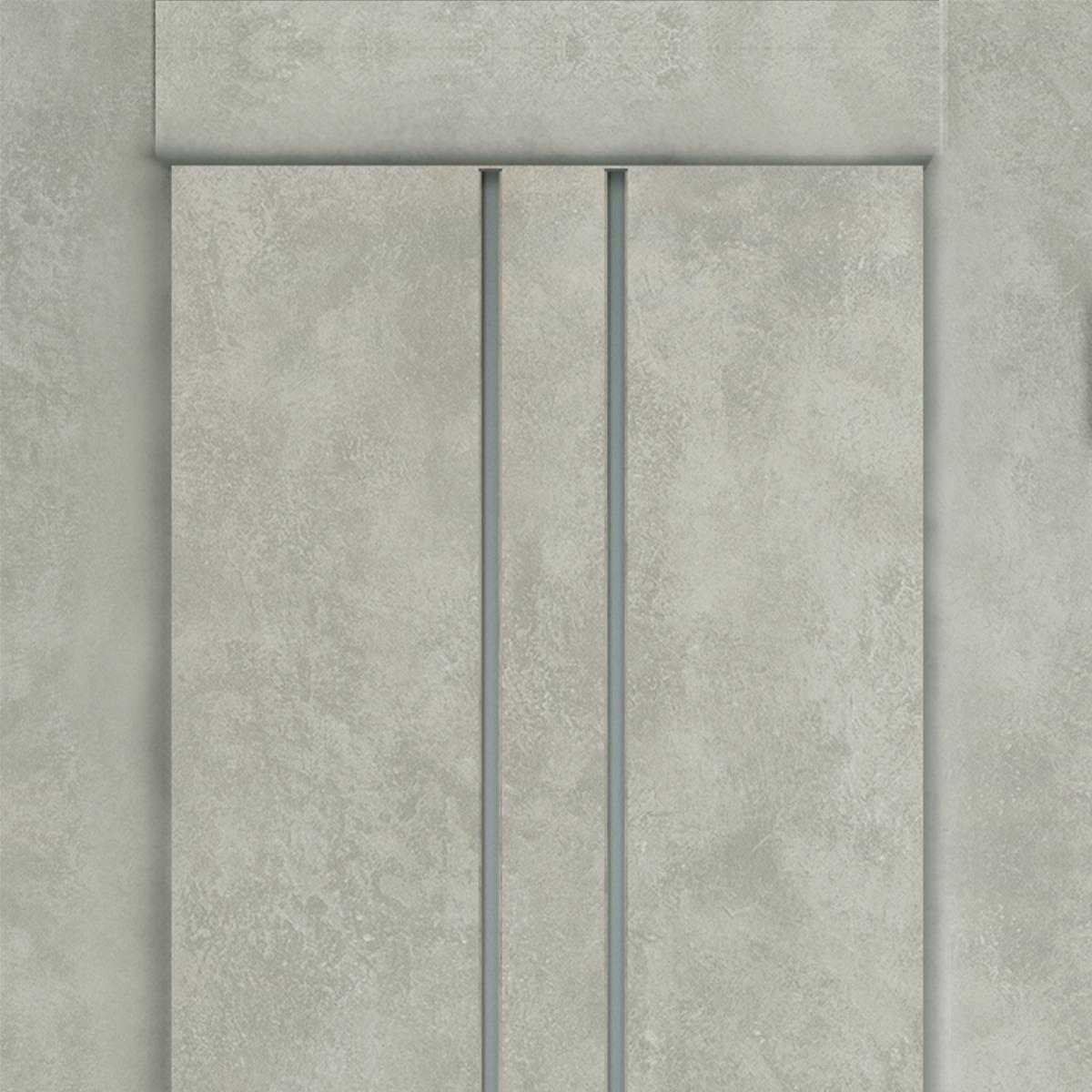 Дверь Межкомнатная Остеклённая «Сиэтл» 80x200 Пвх Цвет Лофт Светлый С Фурнитурой