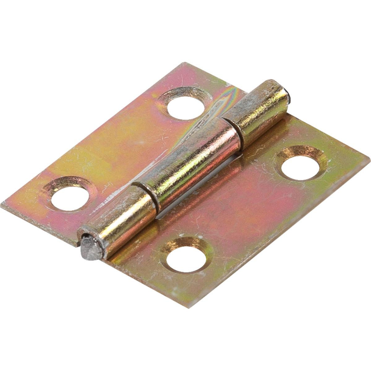 Петля универсальная 25.2х22 мм оцинкованная сталь цвет золотой