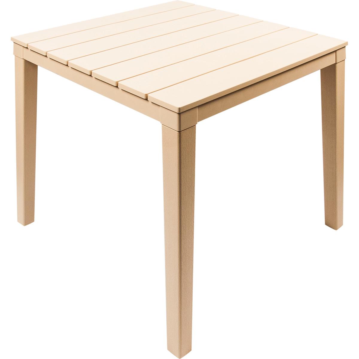 Стол садовый квадратный Прованс 83х83х82 см цвет бежевый