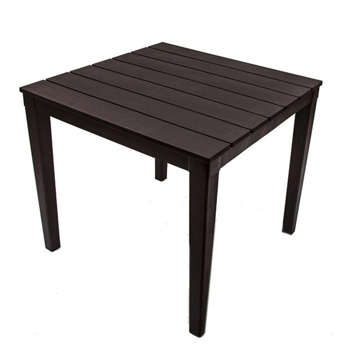 Стол садовый квадратный Прованс 83х83х82 см цвет шоколадный