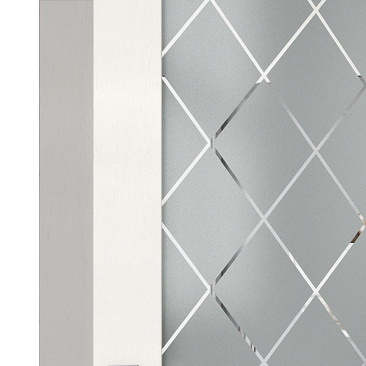 Дверь Межкомнатная Остеклённая «Летиция» 60x200 Пвх Цвет Дуб Пломбир С Фурнитурой