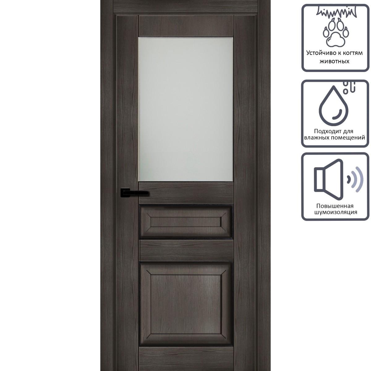 Дверь Межкомнатная Глухая С Замком В Комплекте Дерби 2100x700 Cpl Цвет Дуб Чёрный