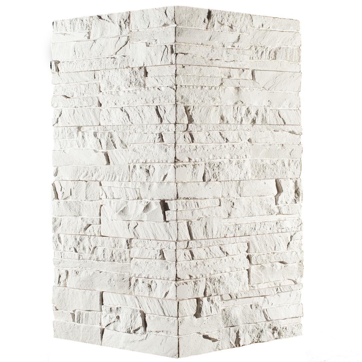 Плитка декоративная Хайлэнд угловая цвет белый 1.04 мп