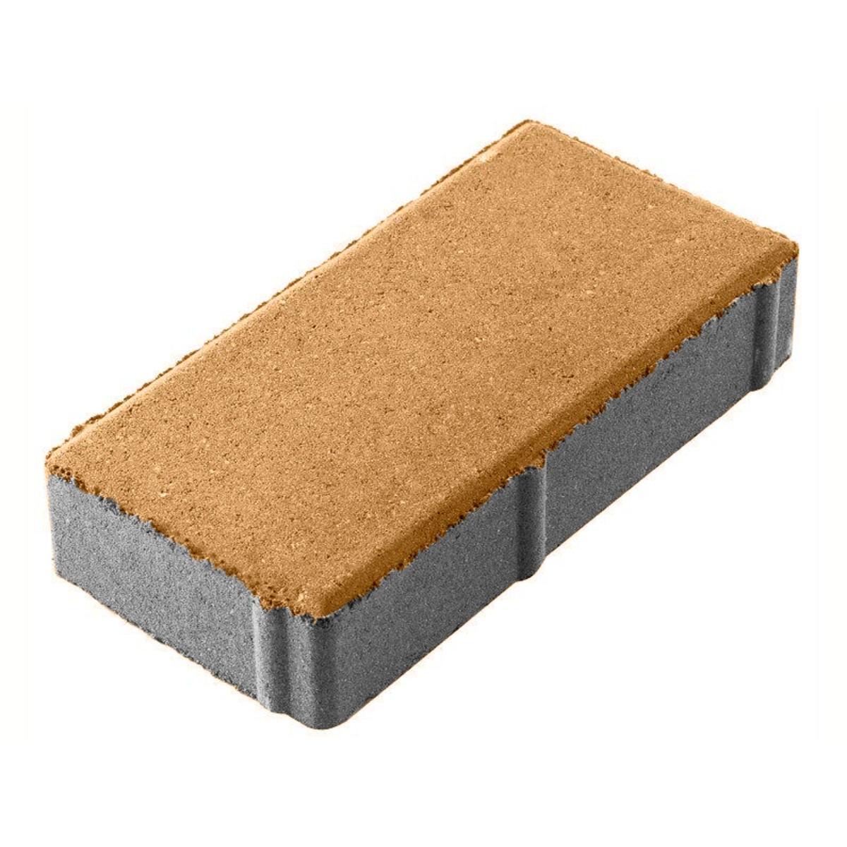 Плитка тротуарная 100х200х40 мм горчица двухслойная