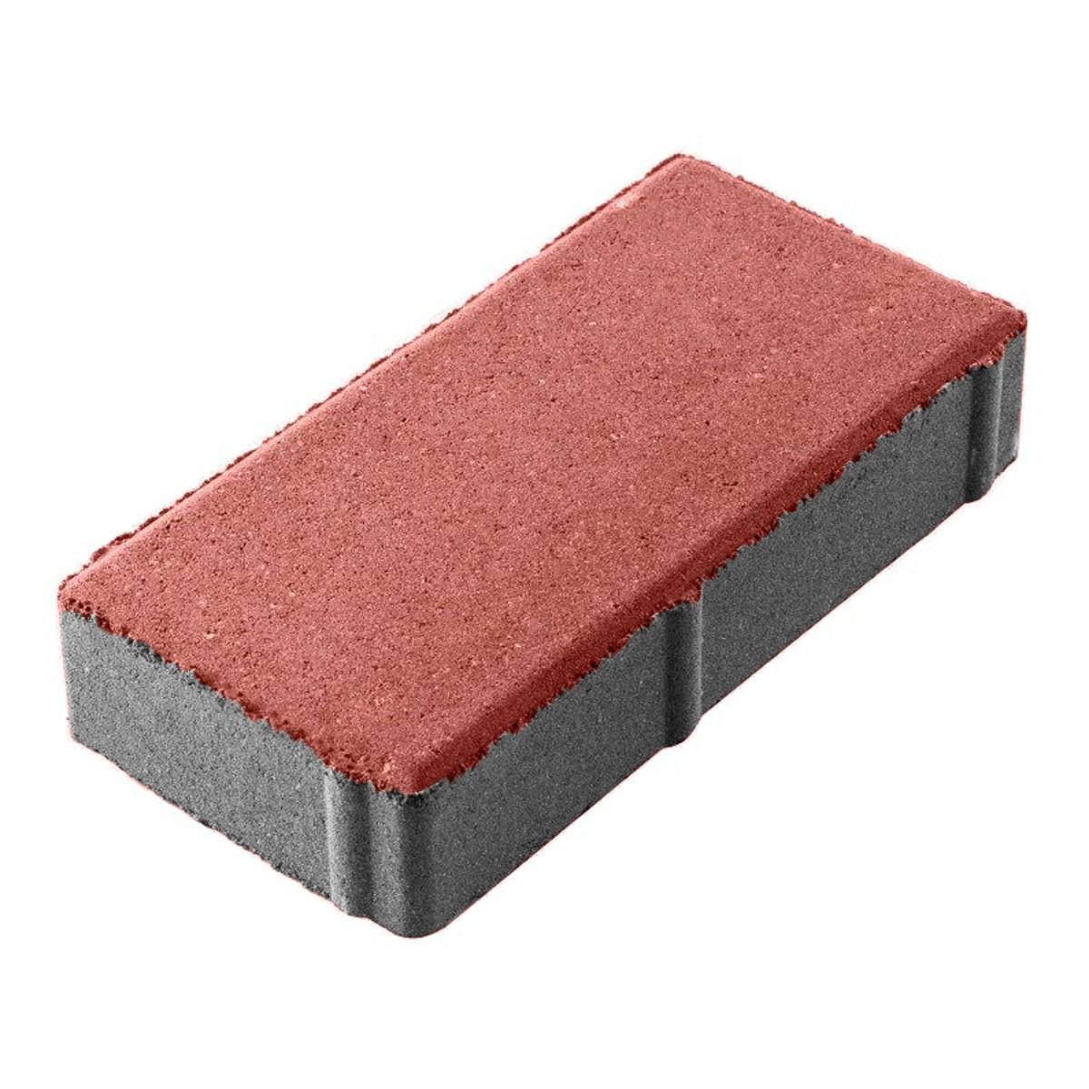 Плитка тротуарная 100х200х40 мм красная двухслойная