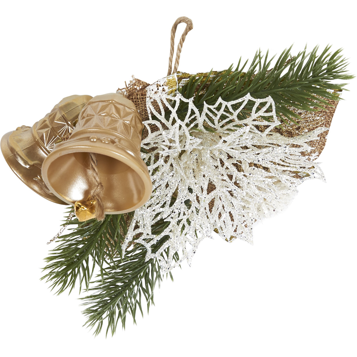 Украшение новогоднее Рождество №1 5 см пластик