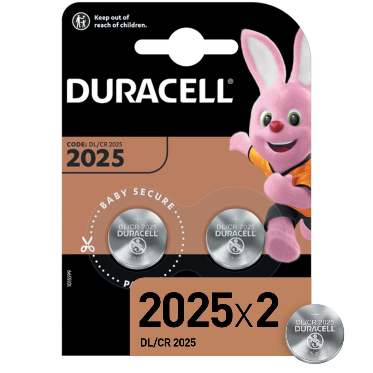Батарейка литиевая Duracell CR2025 2 шт.
