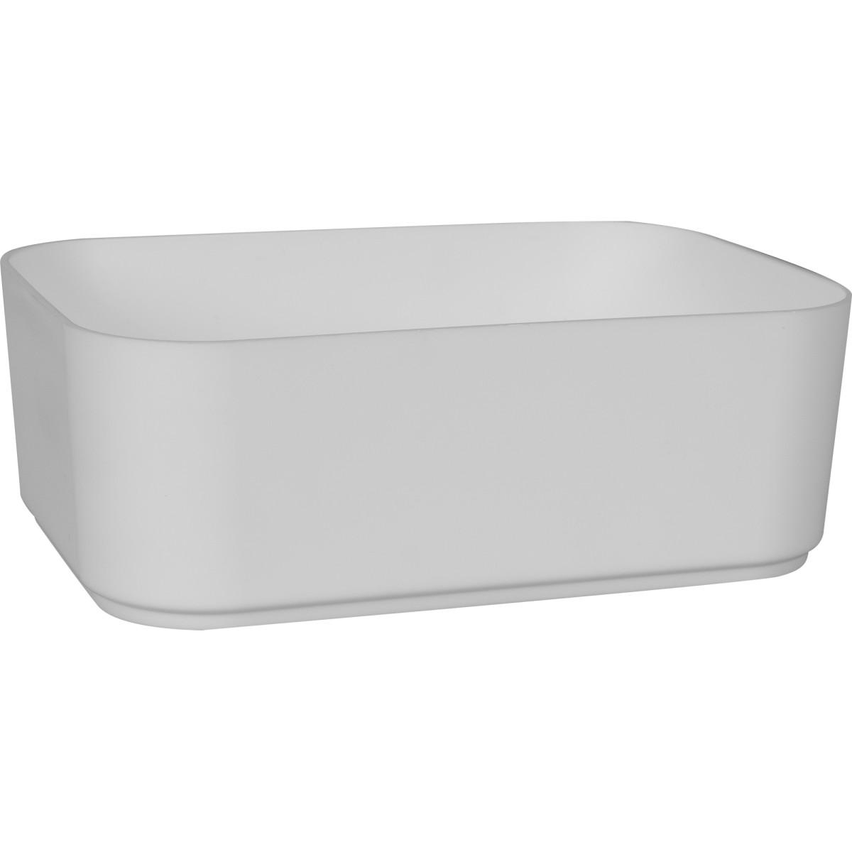 Ёмкость малая Berossi 15x5x11 см пластик цвет белый