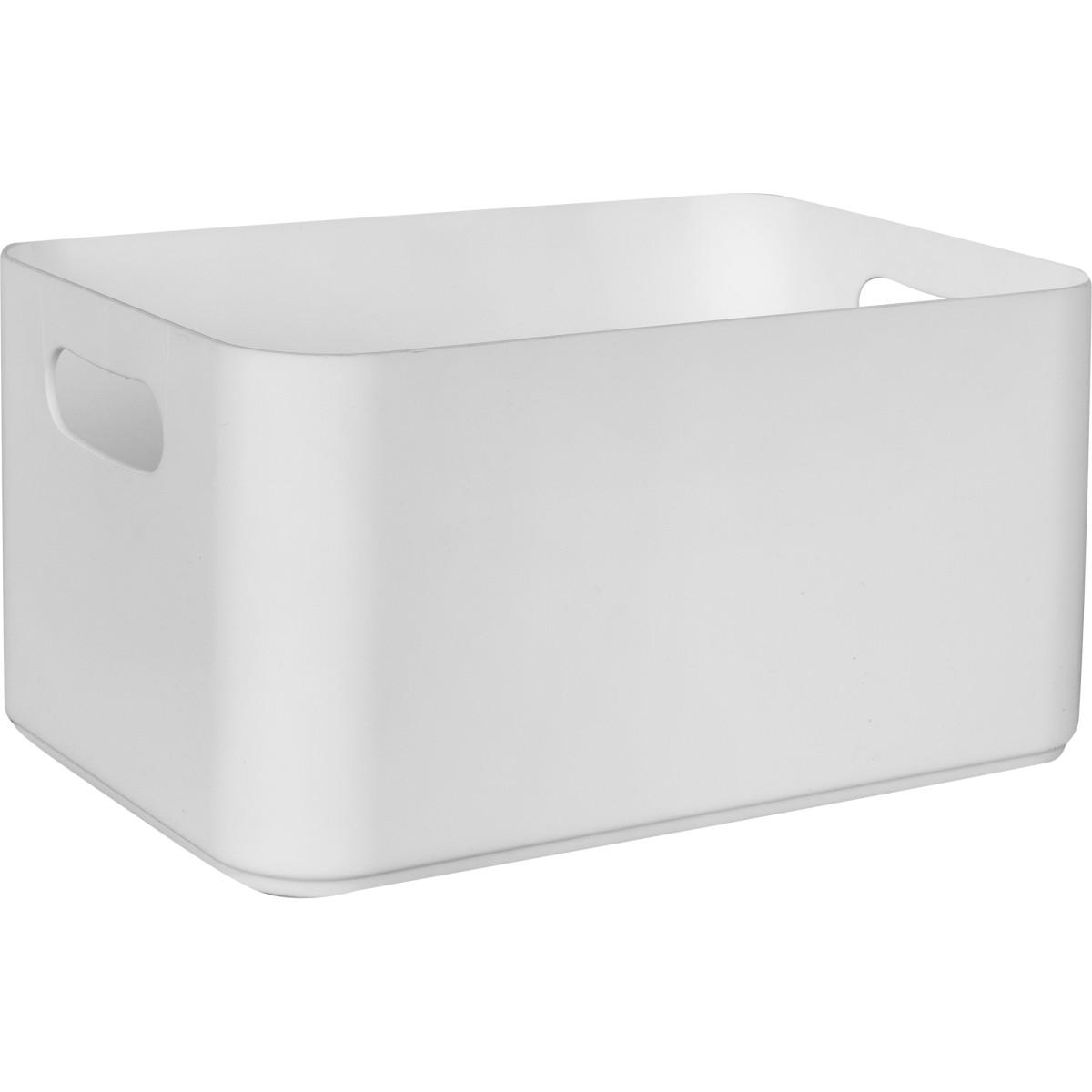 Ёмкость большая Berossi 22x12x15 см пластик цвет белый