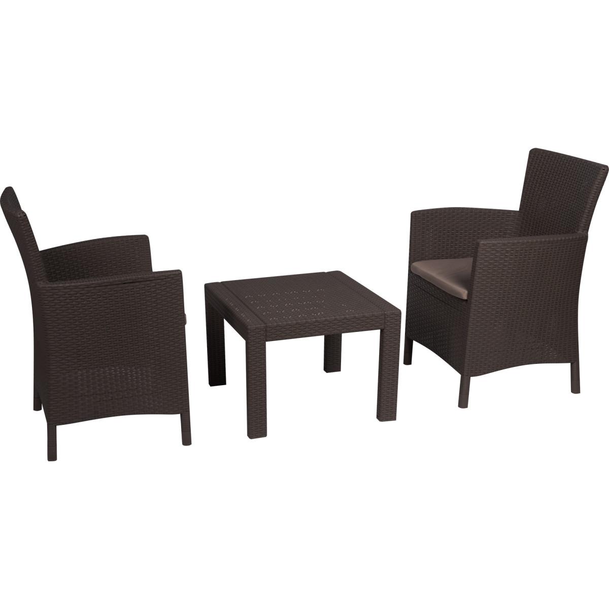 Набор садовой мебели Keter Rosario полиротанг капучино стол и 2 кресла