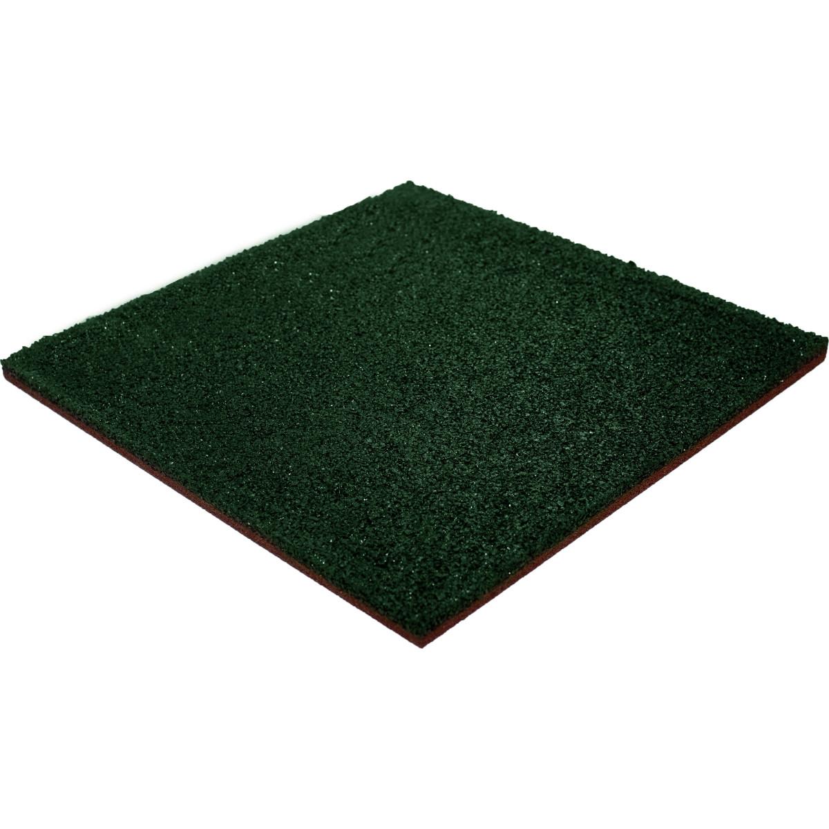 Плитка резиновая 500х500х20 зеленая