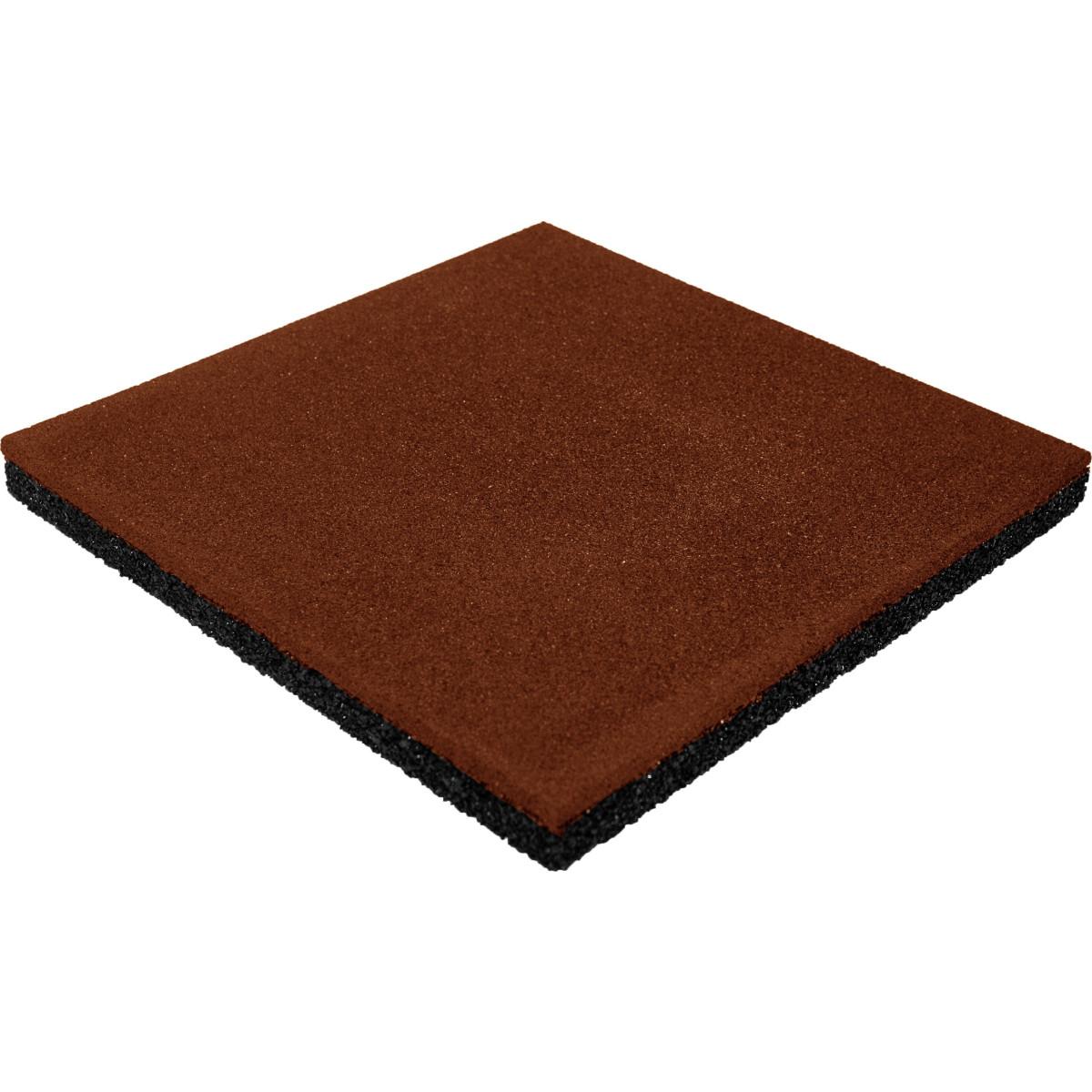 Плитка резиновая 500х500х40 пуансон терракот
