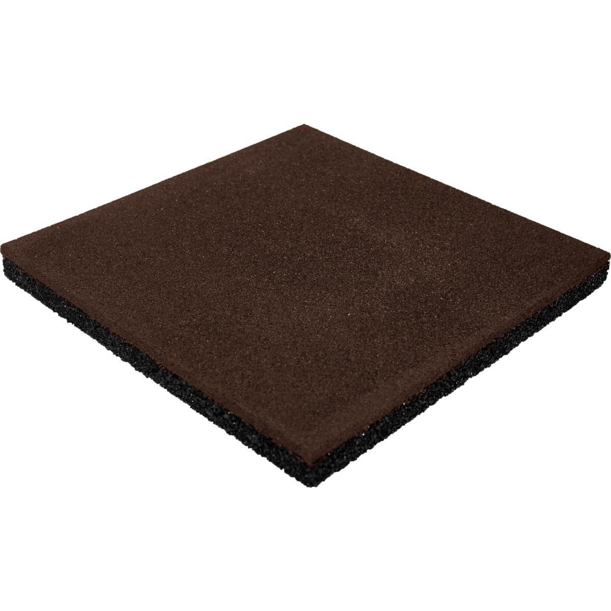 Плитка резиновая 500х500х40 пуансон коричневый