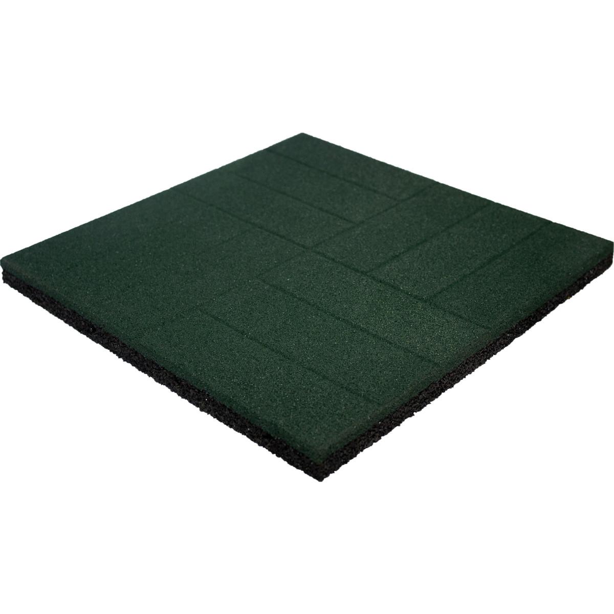 Плитка резиновая 500х500х40 паркет зеленый