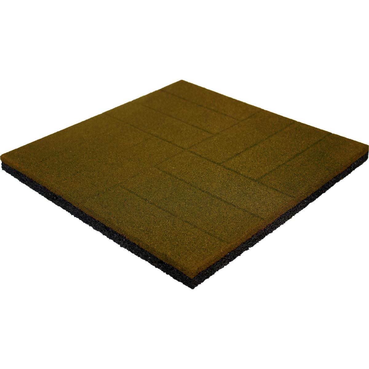 Плитка резиновая 500х500х30 паркет желтый