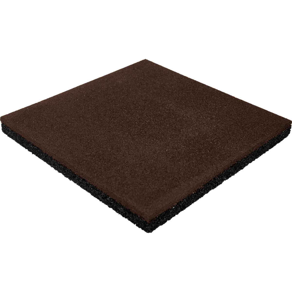 Плитка резиновая 500х500х40 коричневая