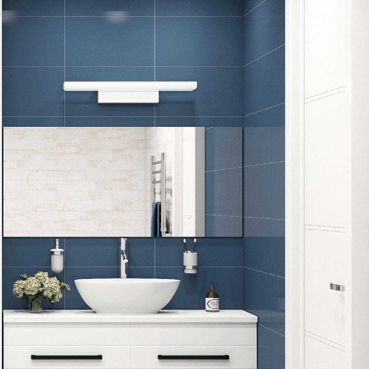 Плитка настенная Блю шеврон 25x45 см 1.46 м² цвет синий