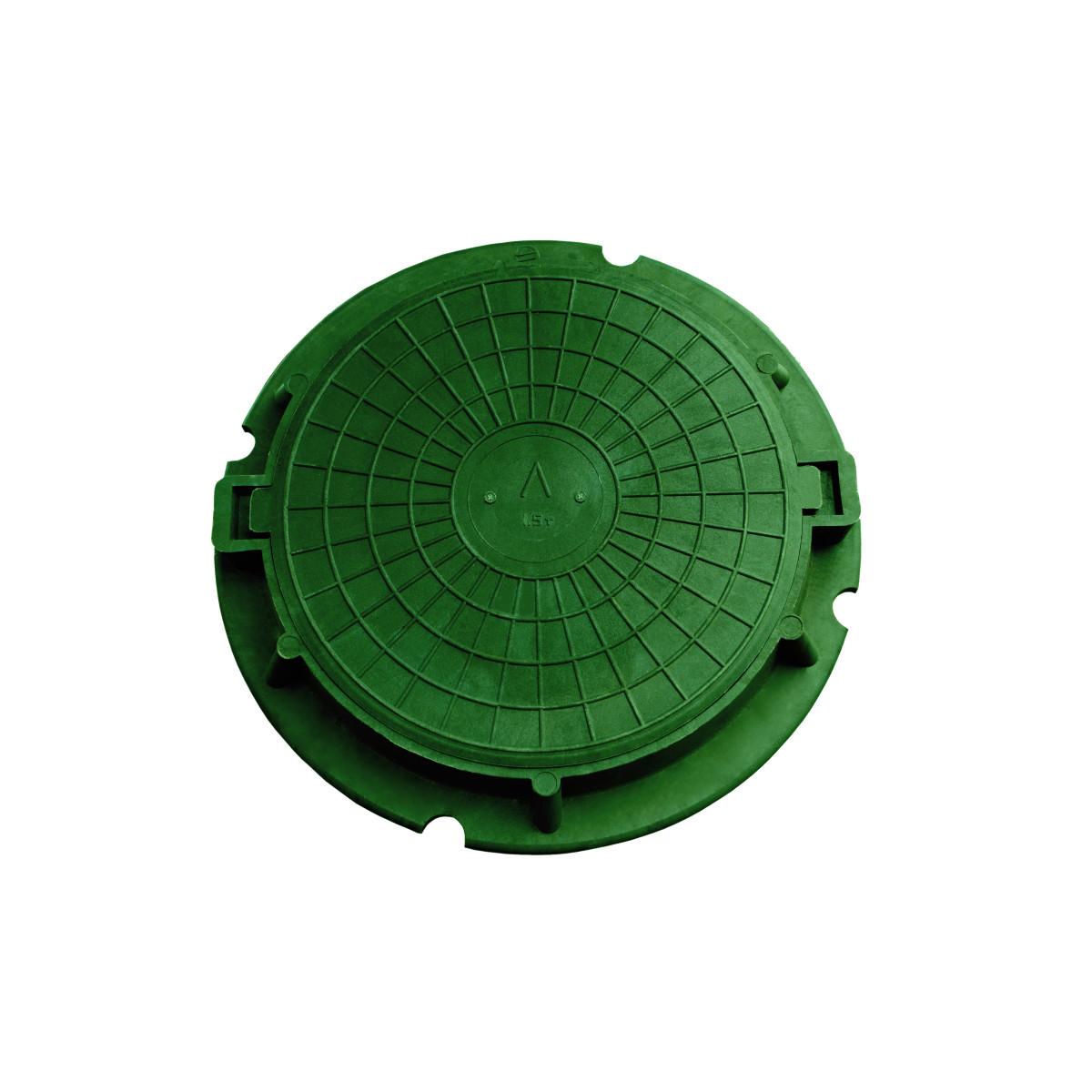 Люк дачный 3 т цвет зелёный