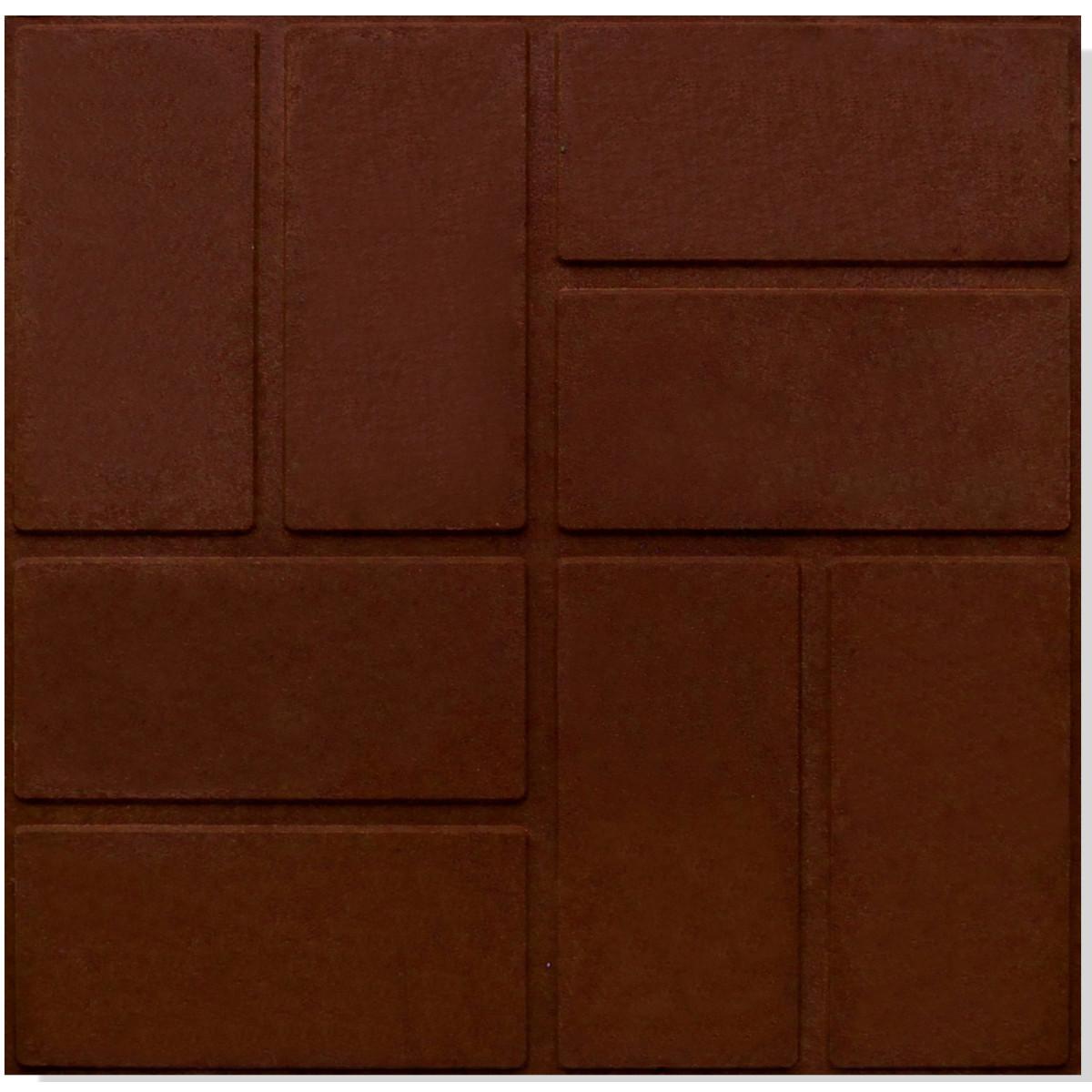 Плитка тротуарная 330x330x20 мм цвет шоколадный