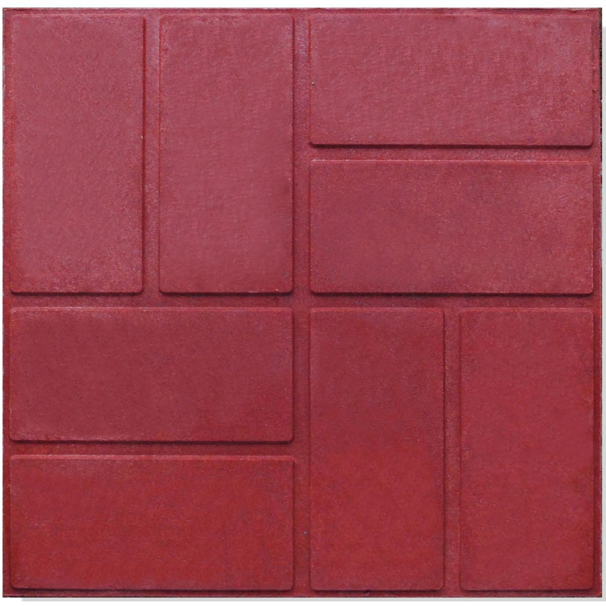 Плитка тротуарная 330x330x20 мм цвет красный