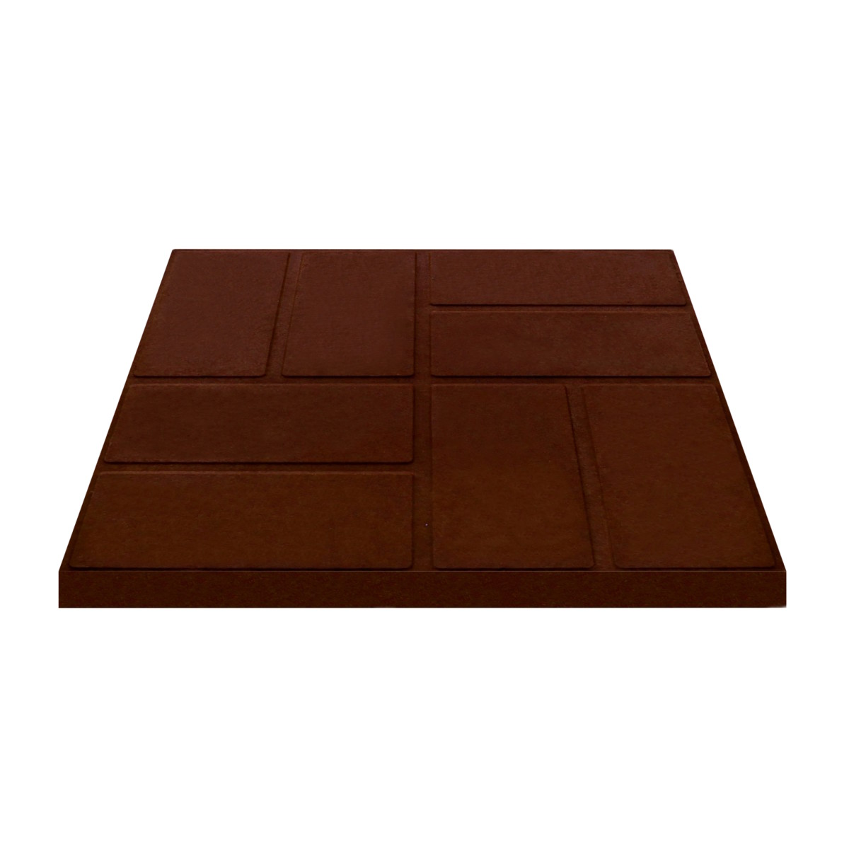 Плитка тротуарная 330x330x35 мм цвет шоколадный