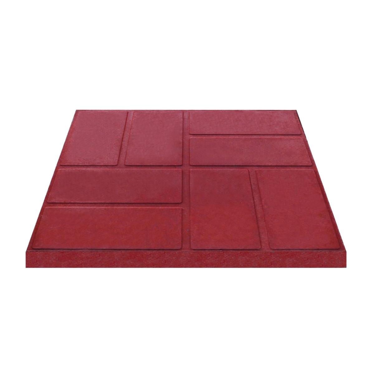Плитка тротуарная 330x330x35 мм цвет красный