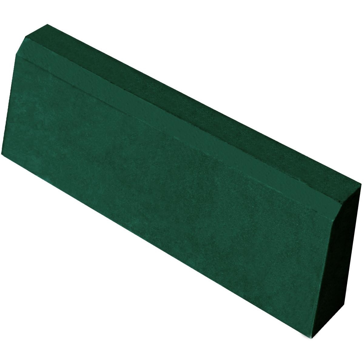 Бордюр тротуарный облегчённый 500x200x40 мм цвет зелёный
