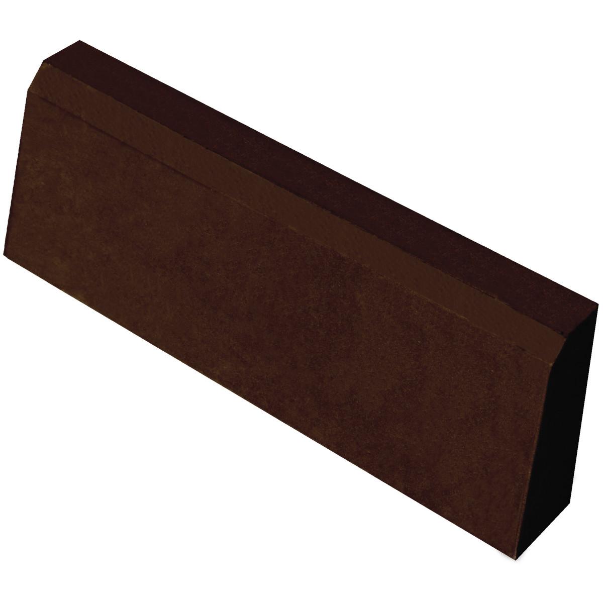 Бордюр тротуарный облегчённый 500x200x40 мм цвет шоколадный