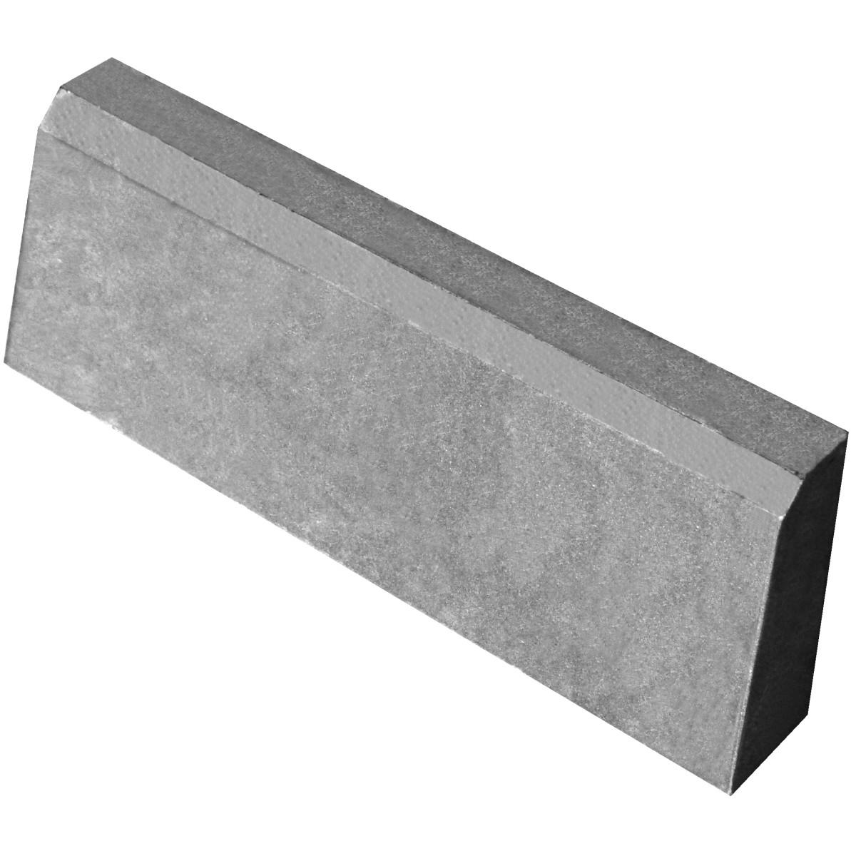 Бордюр тротуарный облегчённый 500x200x40 мм цвет серый