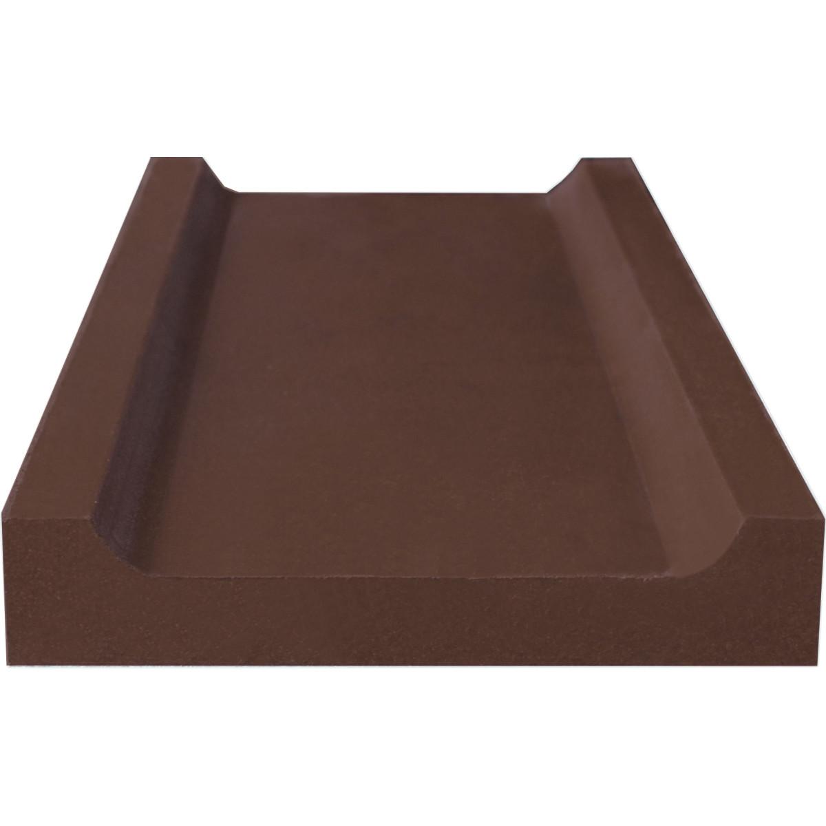 Водосток 500x200x35 мм цвет шоколадный