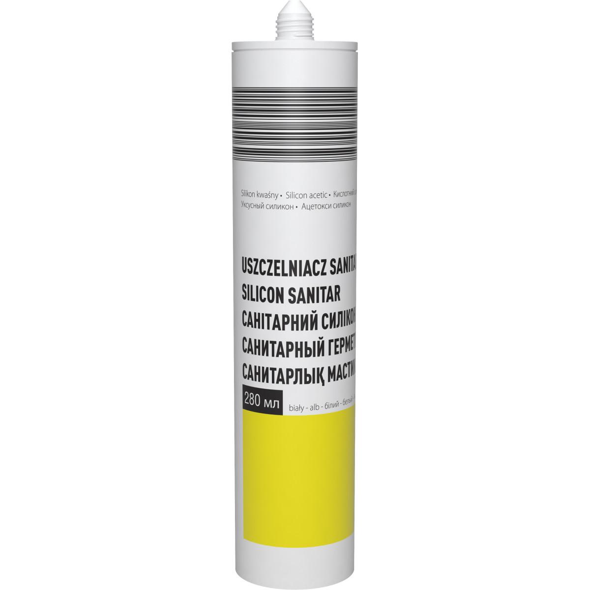 Герметик санитарный силиконовый цвет белый 280 мл