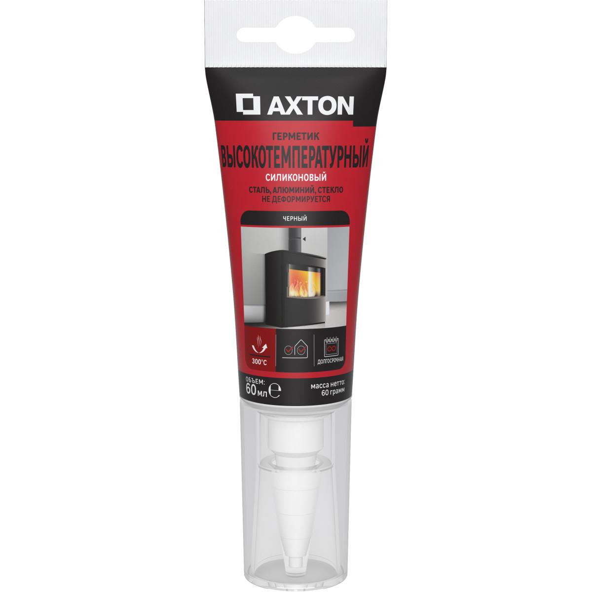 Герметик высокотемпературный Axton до 300°C цвет черный 60 мл