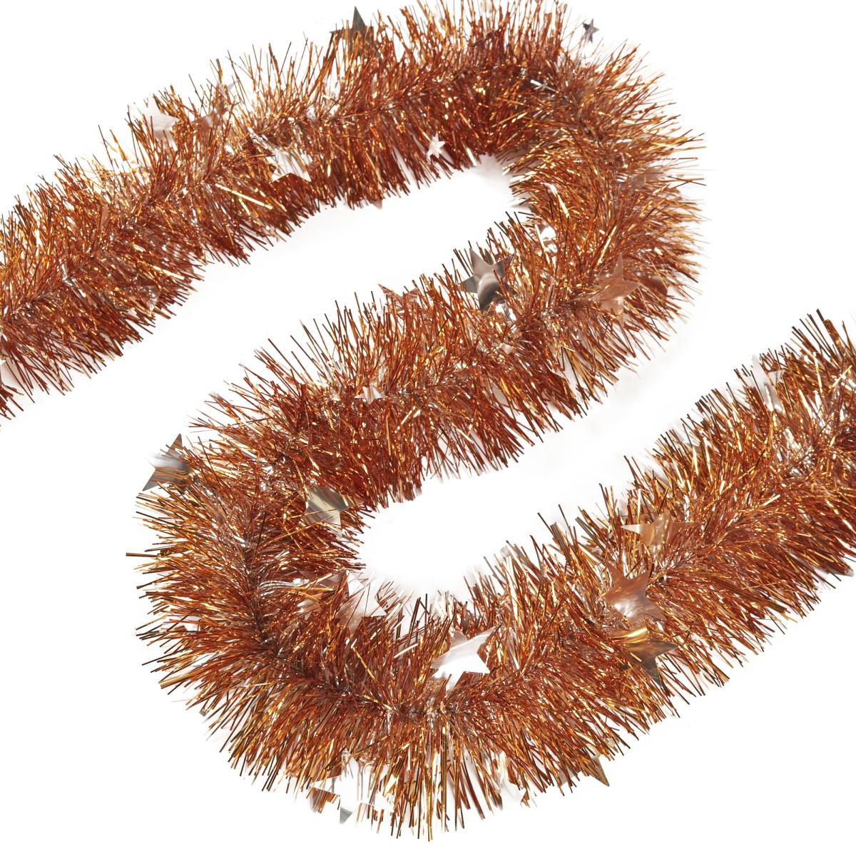 Гирлянда «Звёздочка» 80 см цвет бронза