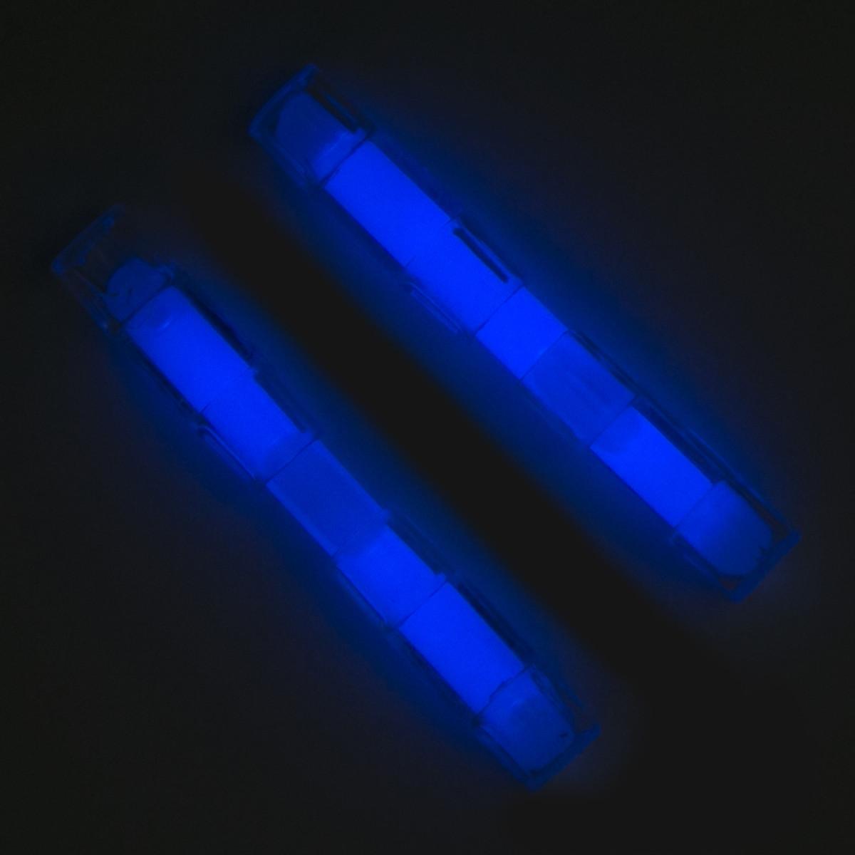 Крепления На Обувь Маскарадные Светящиеся Цвет Голубой