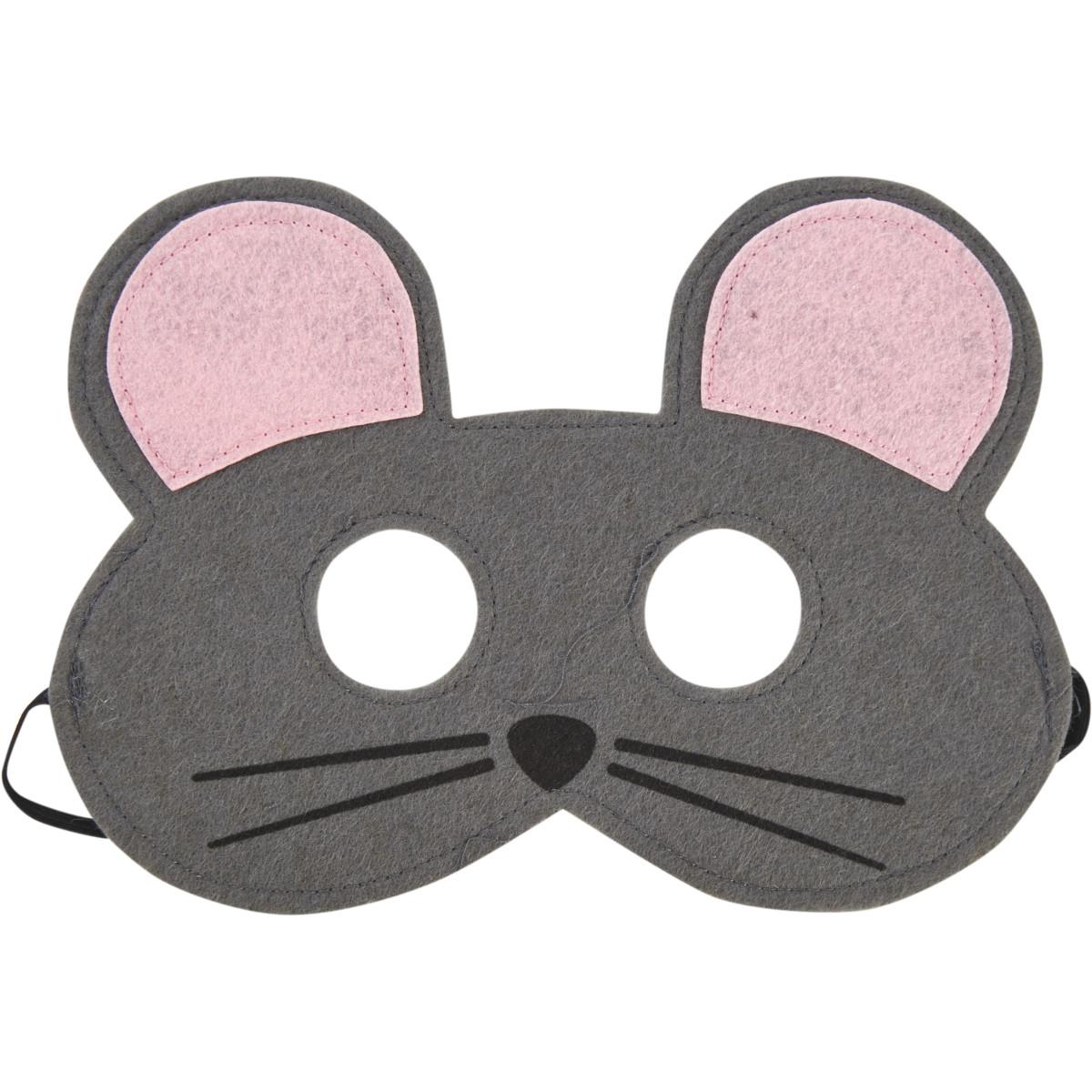 Маска маскарадная Мышка цвет серый