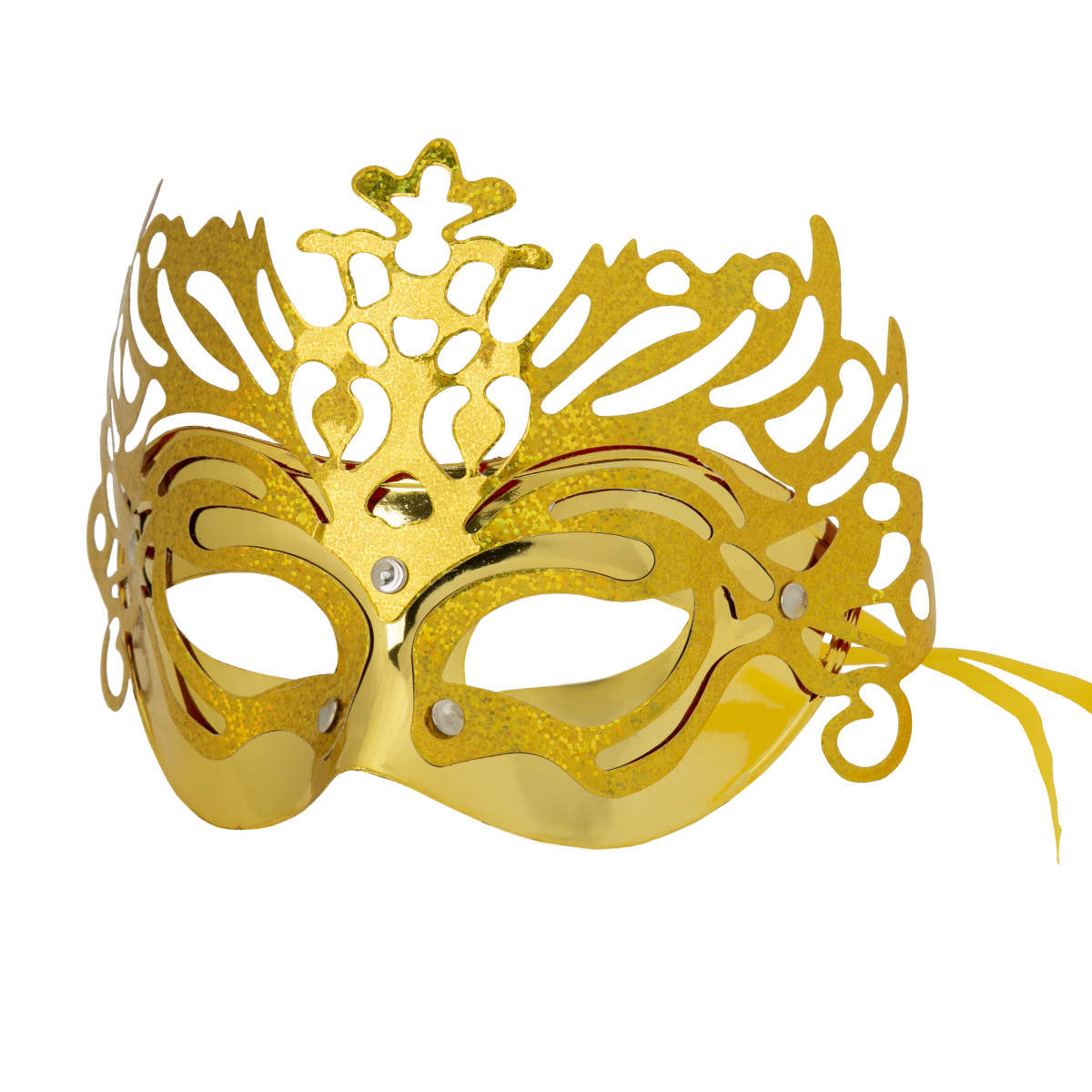 Маска маскарадная Королева цвет золотой
