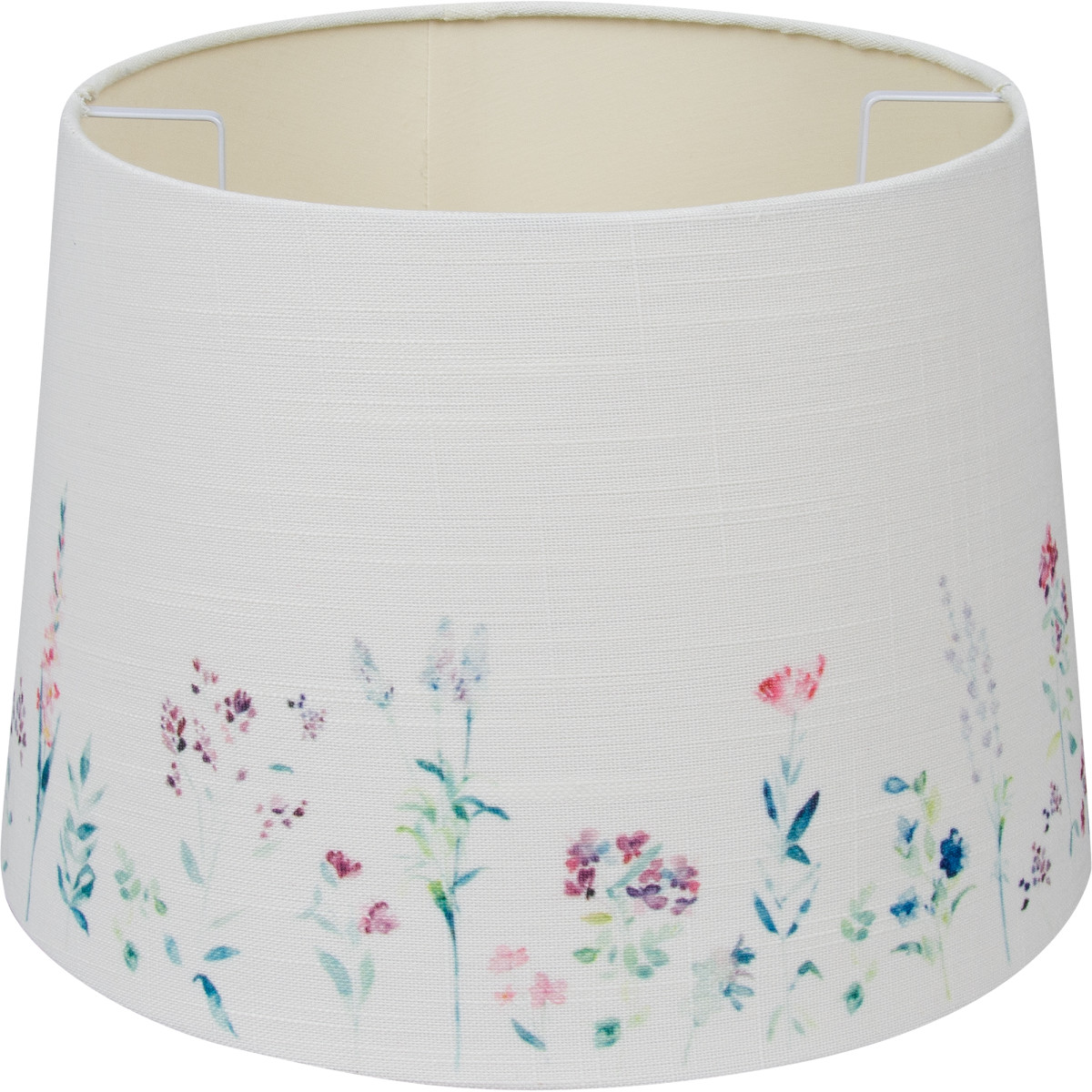 Абажур Linen Ivory Print 7843-5 E27/E14 кольцо цвет бежевый