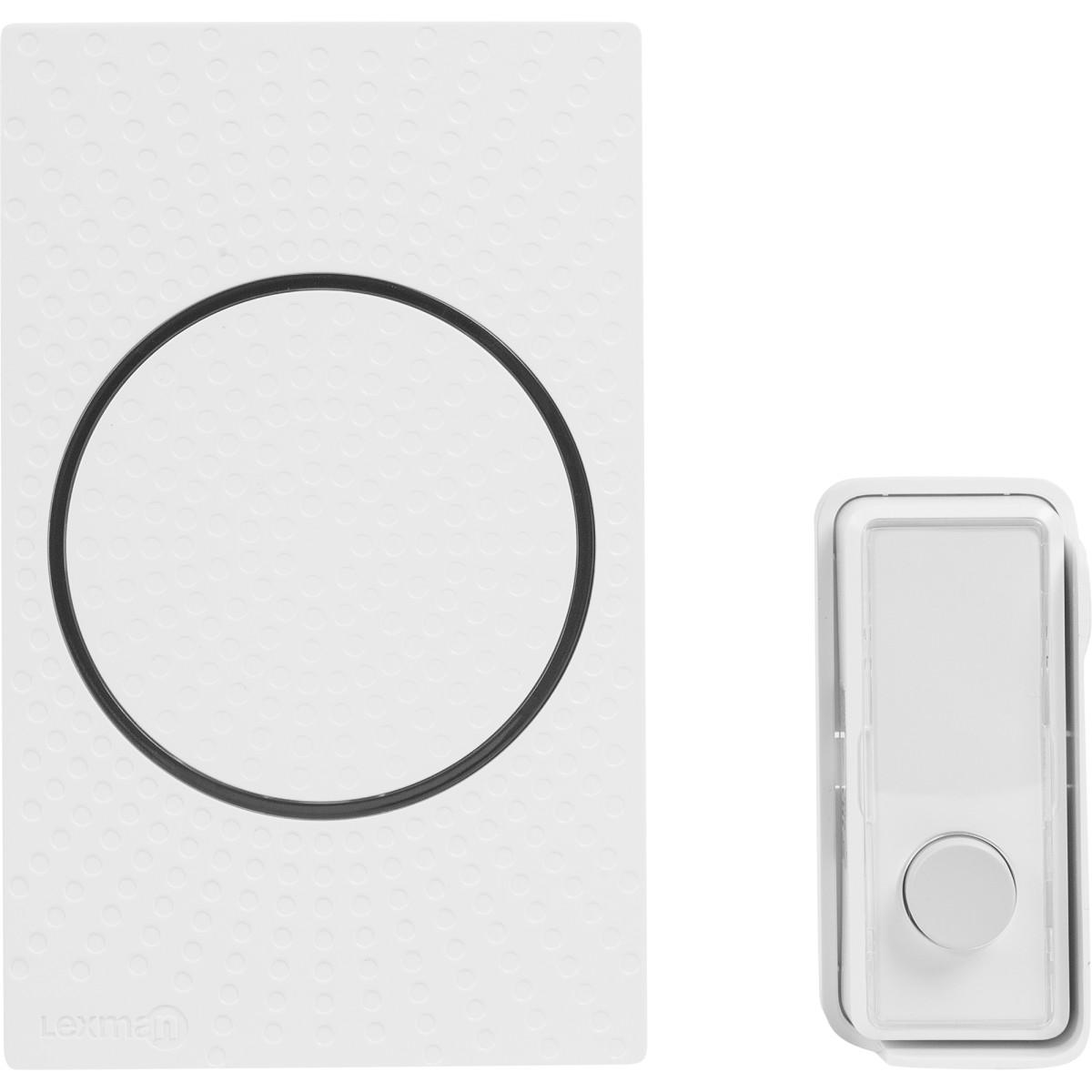 Звонок проводной Lexman D08 c подсветкой IP55 белый