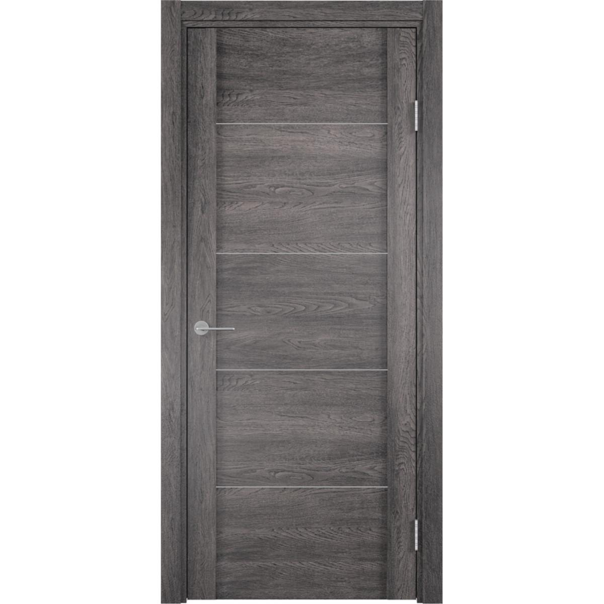 Дверь Межкомнатная Глухая С Замком В Комплекте Квадро 200x70 Пвх Цвет Шале Серый