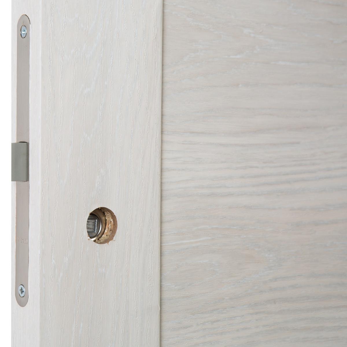 Дверь Межкомнатная Глухая С Замком В Комплекте Квадро 70x200 Пвх Цвет Шале Капучино