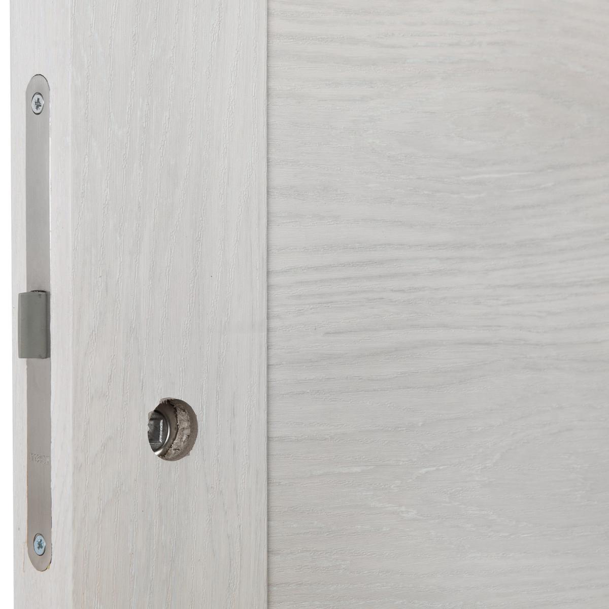 Дверь Межкомнатная Глухая С Замком В Комплекте Квадро 90x200 Пвх Цвет Шале Капучино