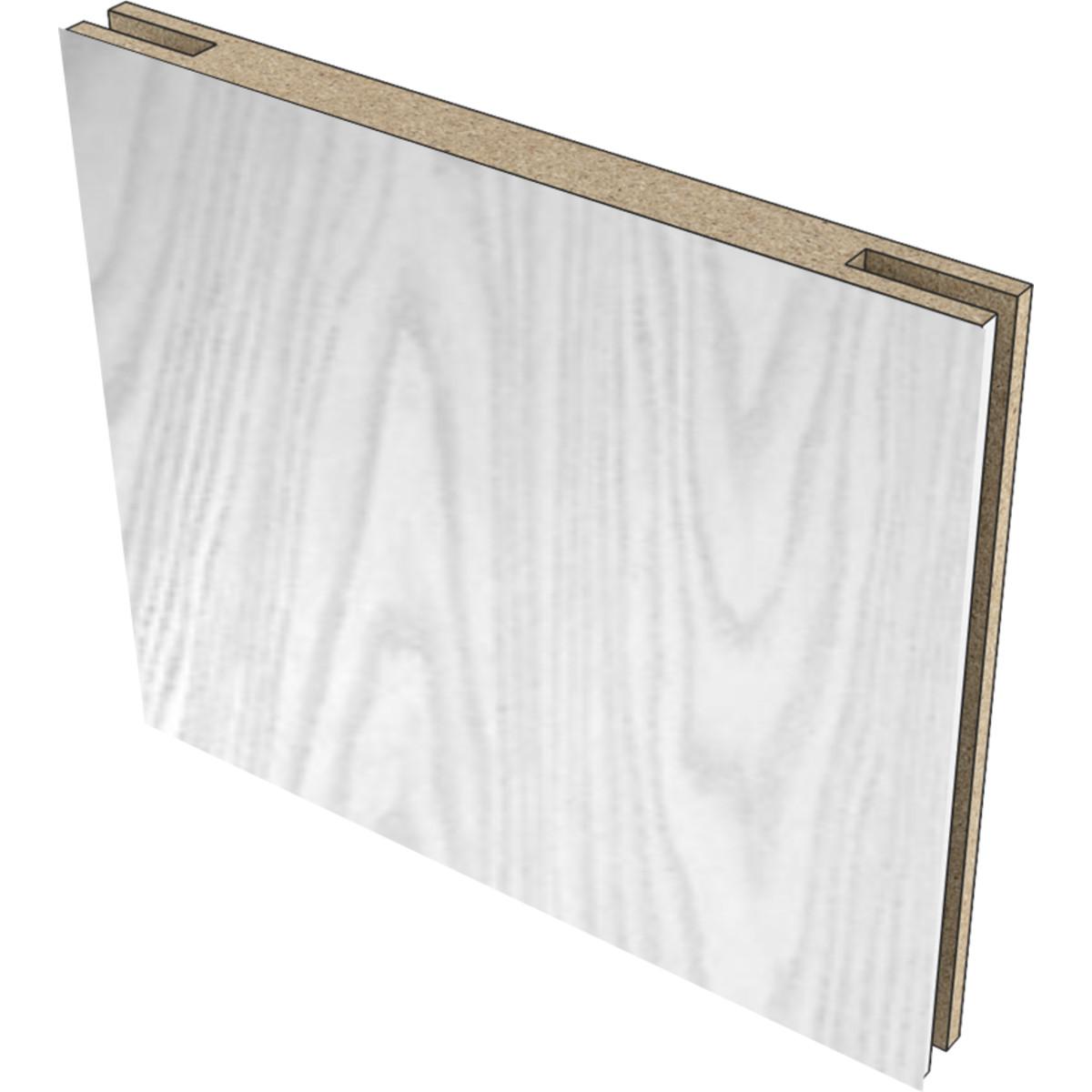 Добор дверной коробки телескопический 2070x200x10 мм экошпон цвет белый