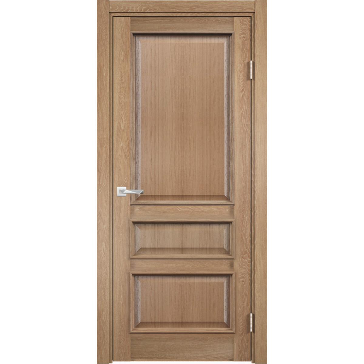 Дверь межкомнатная глухая с замком в комплекте Барселона 200x70 см ПВХ цвет орех
