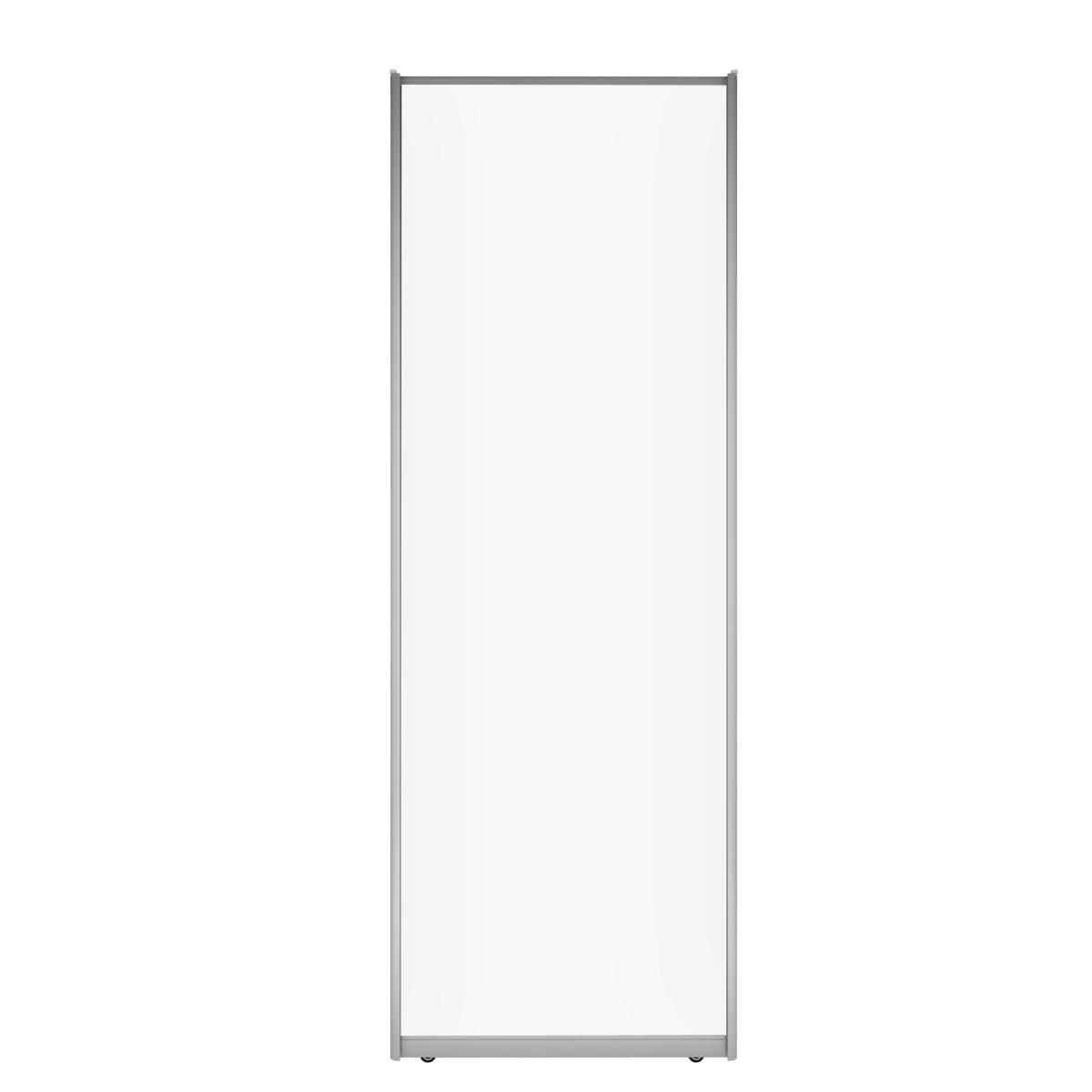 Дверь-купе Spaceo 2255х704 мм ЛДСП цвет белый/серебро