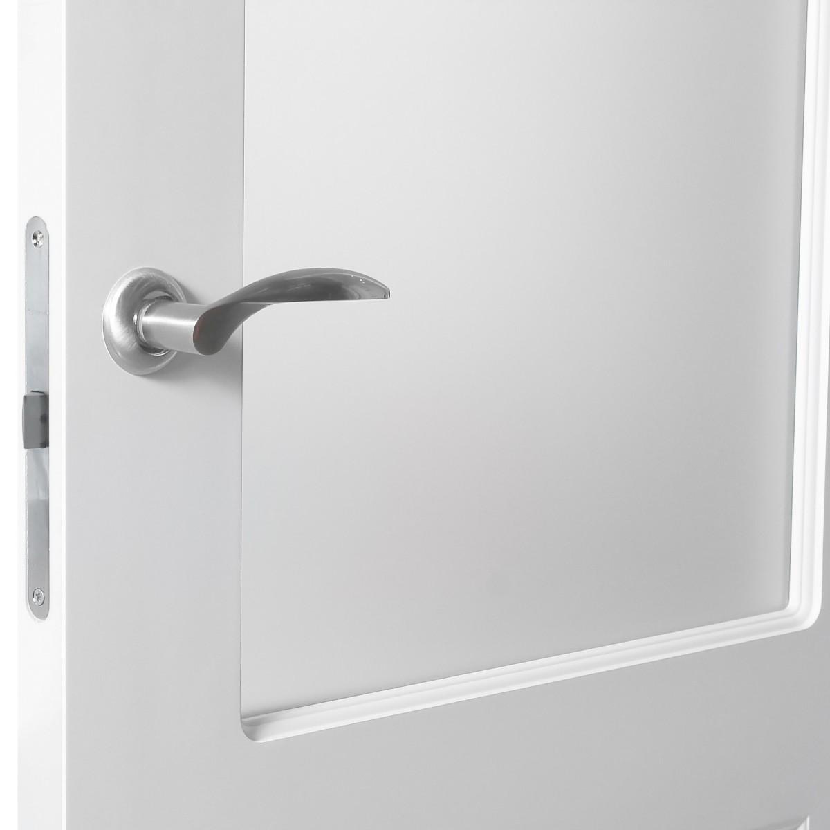 Дверь Межкомнатная Остеклённая Австралия 200x90 Эмаль Цвет Белый С Фурнитурой