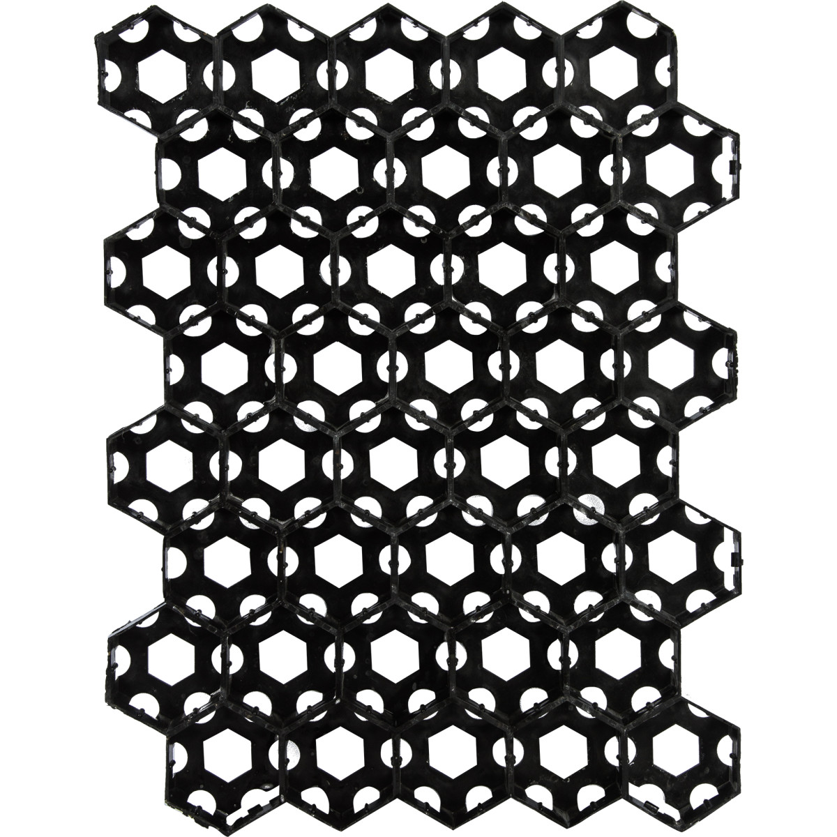 Решетка газонная 40x53 см цвет черный