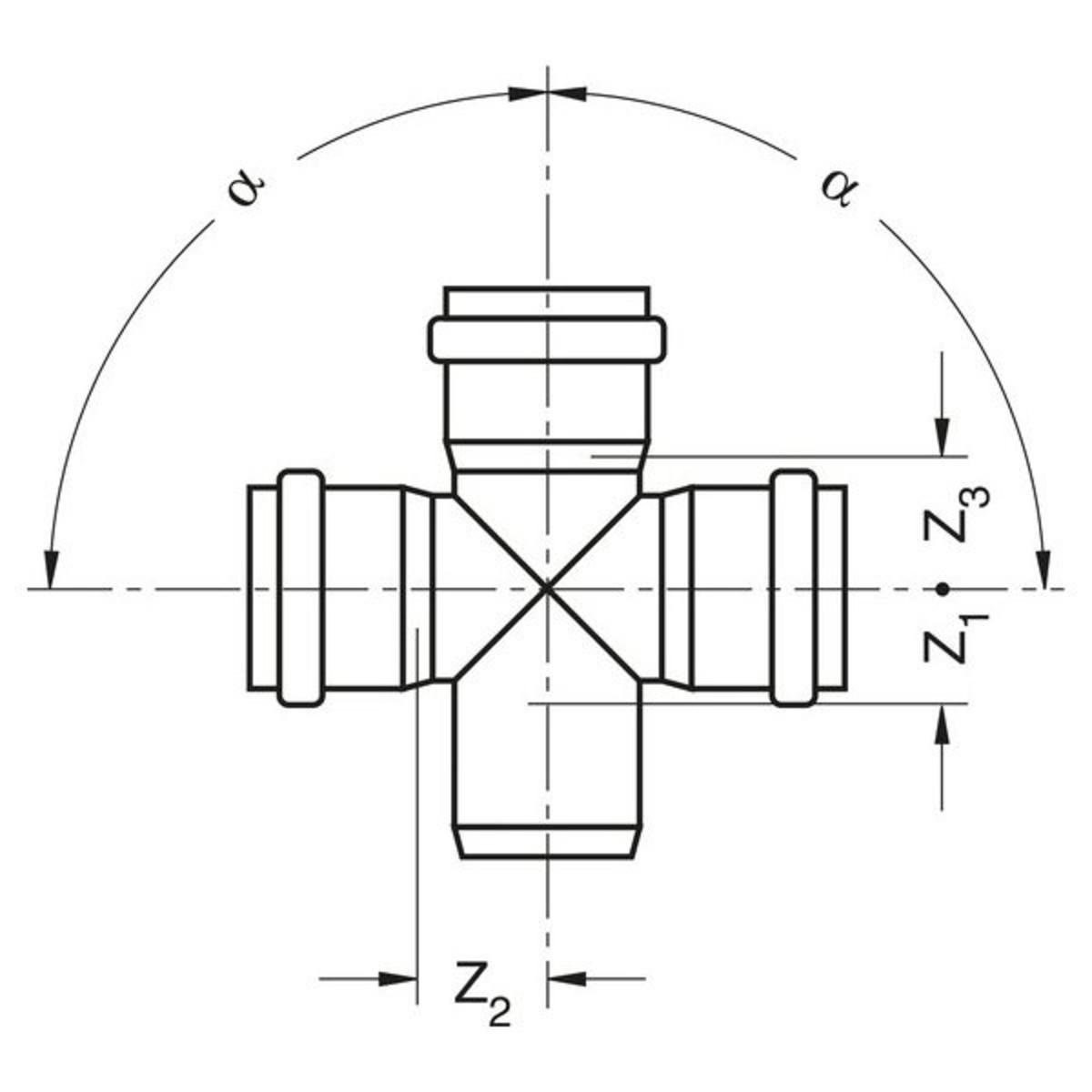 Крестовина  Ø110/110/110/87° Rehau Raupiano