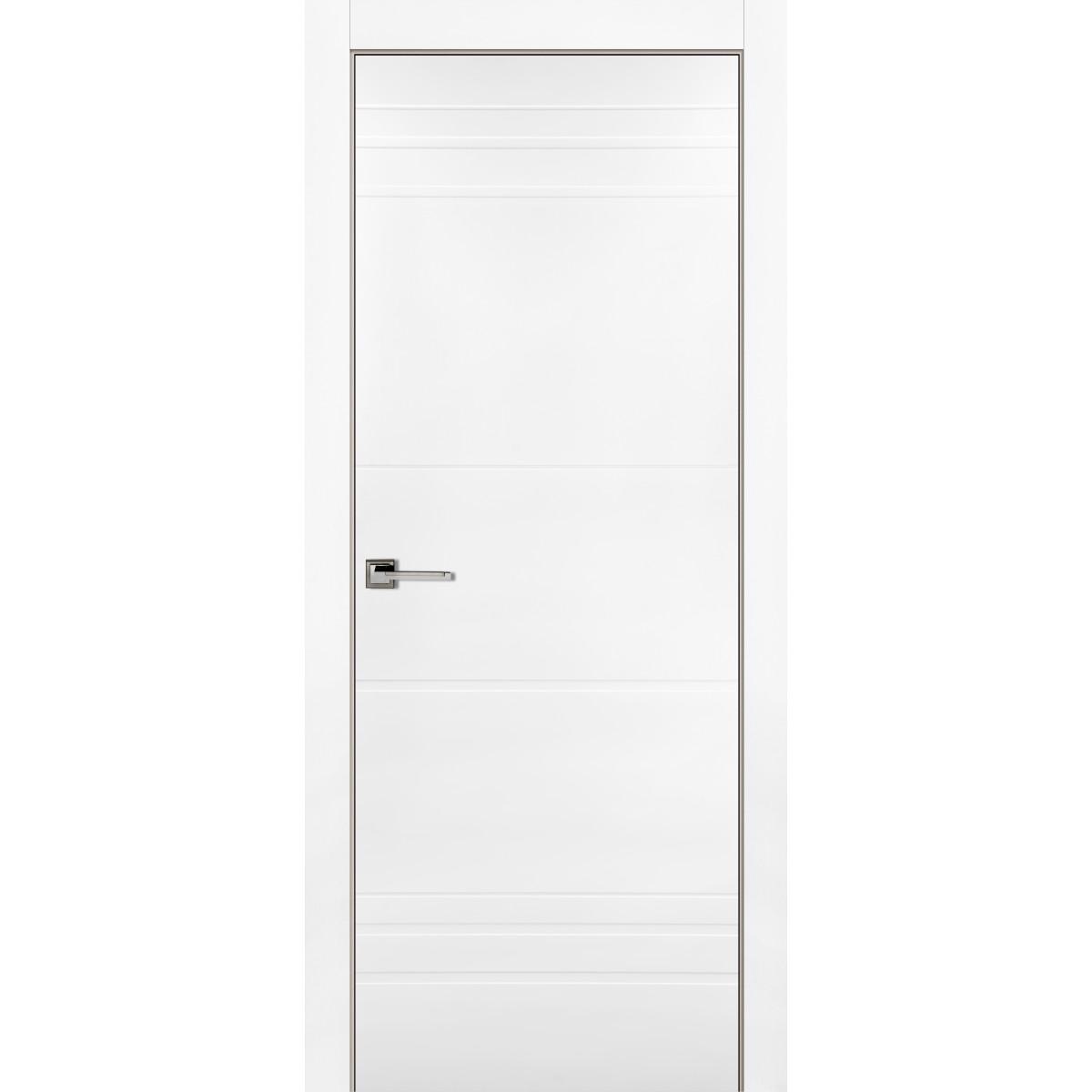 Дверь Межкомнатная Глухая С Замком В Комплекте Рива 80x200 Эмаль Цвет Белый